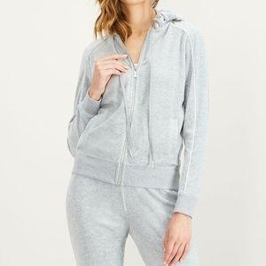 Calvin Klein Sweater Hoodie Piped Cardigan Sz M